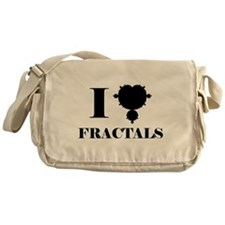I Love Fractals Mathematics Messenger Bag