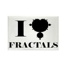 I Love Fractals Mathematics Rectangle Magnet