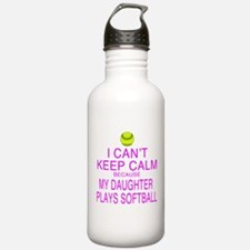 My Daughter plays softball Water Bottle