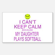 My Daughter plays softball Decal