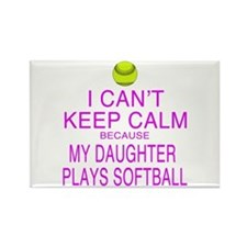My Daughter plays softball Rectangle Magnet