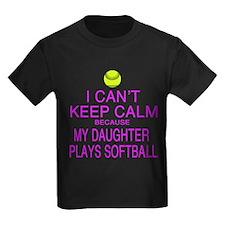 My Daughter plays softball T