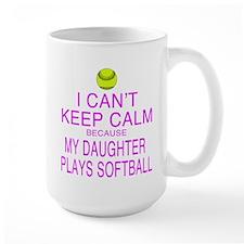 My Daughter plays softball Mug