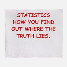 statistics Throw Blanket