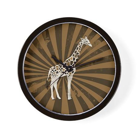 Retro Giraffe Wall Clock