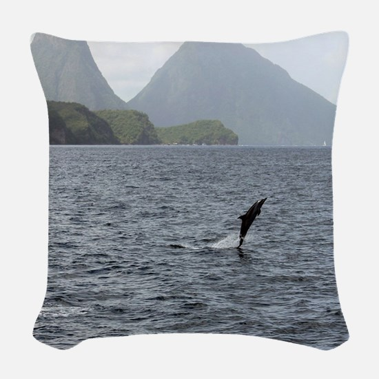 Gros and Petit Mountains Saint Woven Throw Pillow