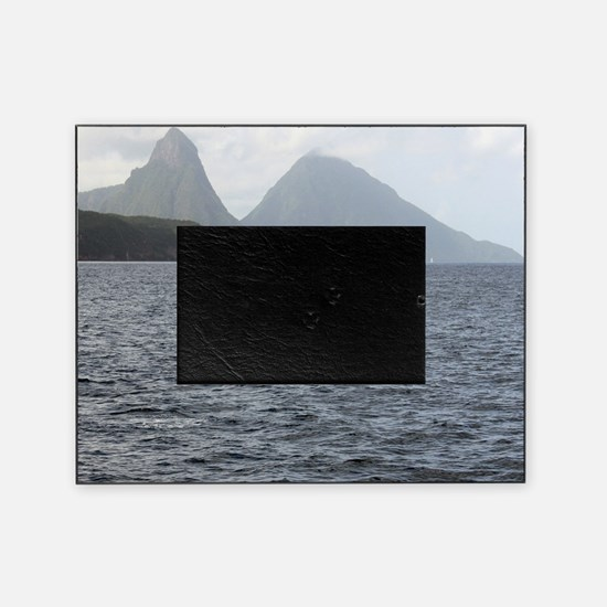 Gros and Petit Mountains Saint Lucia Picture Frame