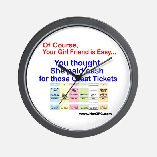 Of Course tickets Wall Clock