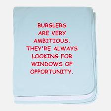 burglars baby blanket