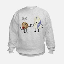 Cute Couple Showing Love Sweatshirt