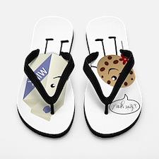 Cute Couple Showing Love Flip Flops
