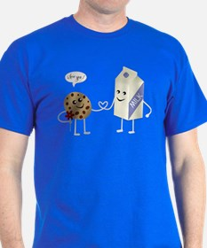 Cute Couple - Milk and Cookie T-Shirt