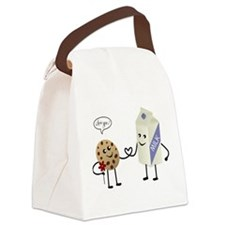 Cute Couple Showing Love Canvas Lunch Bag