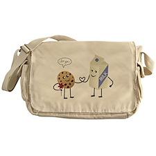 Cute Couple Showing Love Messenger Bag