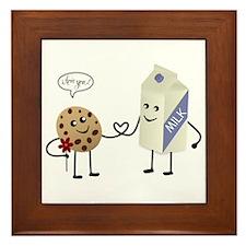 Cute Couple Showing Love Framed Tile