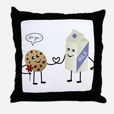 Cute Couple Showing Love Throw Pillow