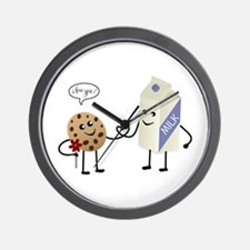 Cute Couple Showing Love Wall Clock