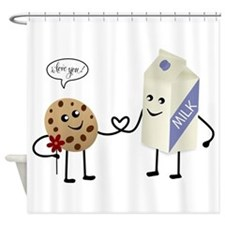 Cute Couple Showing Love Shower Curtain