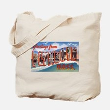 Plymouth Massachusetts Greetings Tote Bag