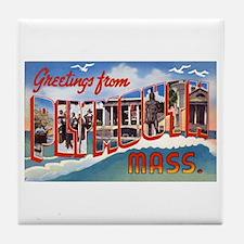 Plymouth Massachusetts Greetings Tile Coaster
