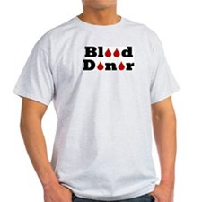 Blood Donor Ash Grey T-Shirt