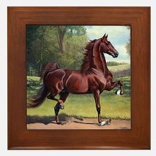 WC Merchant Prince by Jeanne Newton Sc Framed Tile