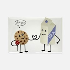 Cute Couple Showing Love Rectangle Magnet