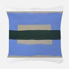 Sea Land I Woven Throw Pillow