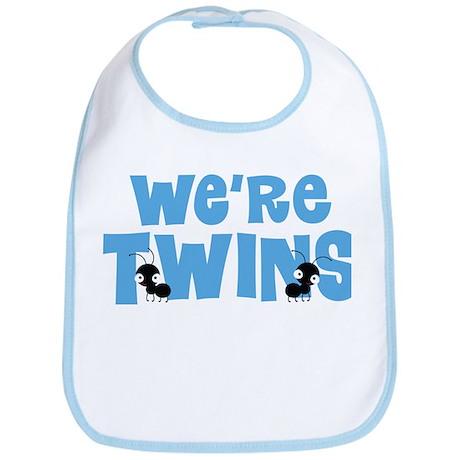 Twin Boys We're Twins Bib