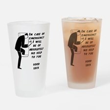 Emergency Assistance Drinking Glass