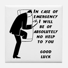 Emergency Assistance Tile Coaster