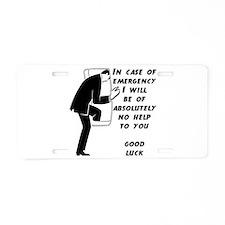 Emergency Assistance Aluminum License Plate