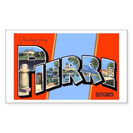 Pierre South Dakota Greetings Sticker (Rectangular
