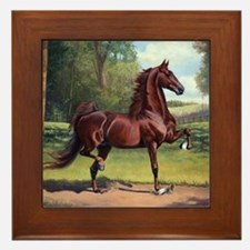 Cool American saddlebred Framed Tile