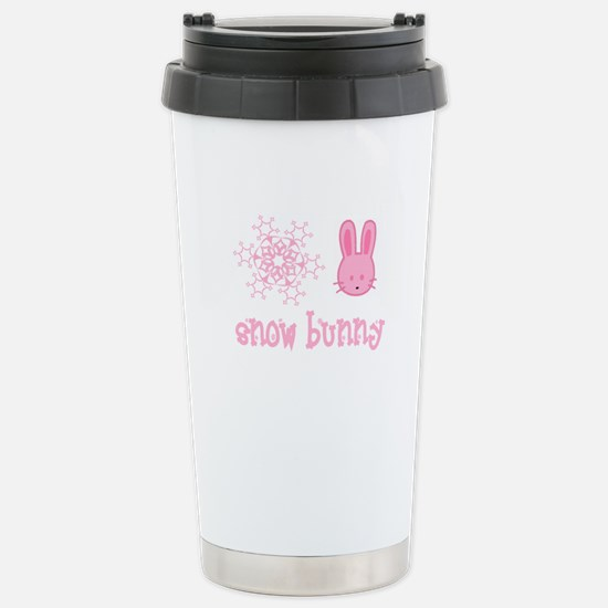 Pink Snow Bunny Travel Mug