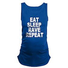 Eat Sleep Rave Repeat Maternity Tank Top