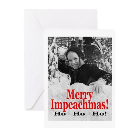 Merry Impeachmas Greeting Cards (Pk of 10)