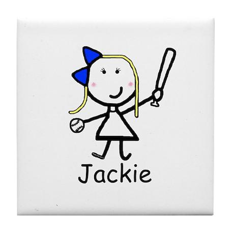 Softball - Jackie Tile Coaster