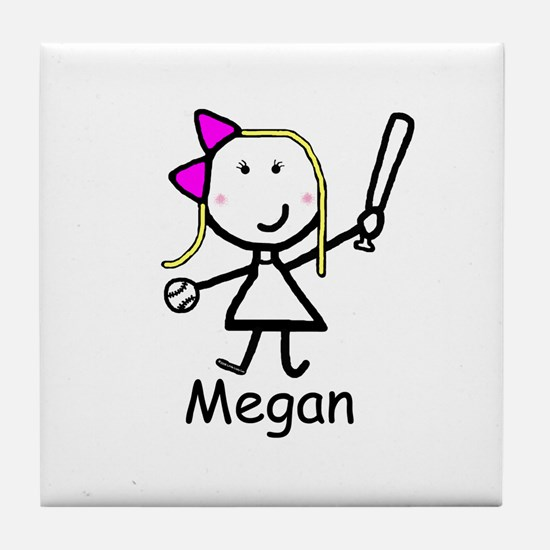Softball - Megan Tile Coaster
