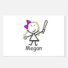 Softball - Megan Postcards (Package of 8)