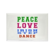 Peace Love Irish Step Dance Rectangle Magnet