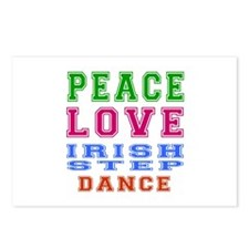 Peace Love Irish Step Dance Postcards (Package of