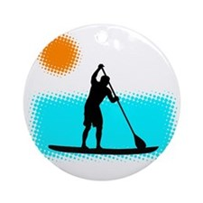 Paddle Boarder Round Ornament