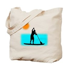 Paddle Boarder Tote Bag