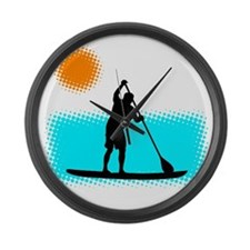 Paddle Boarder Large Wall Clock