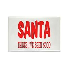 Santa thinks I've been good Rectangle Magnet (100