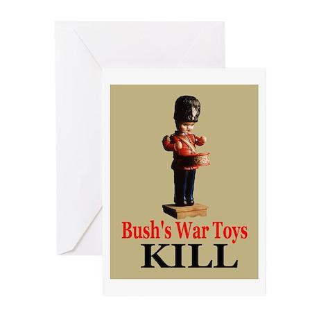Bush's War Toys Greeting Cards (Pk of 10)