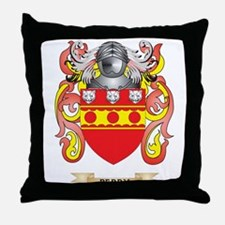 Berry Coat of Arms Throw Pillow
