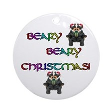 BEARY BEARY CHRISTMAS W/BEARS Ornament (Round)