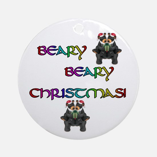 BEARY BEARY CHRISTMAS W/BEARS Ornament (Round)